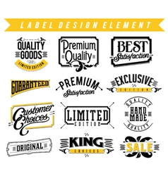 Label Design Element vector image