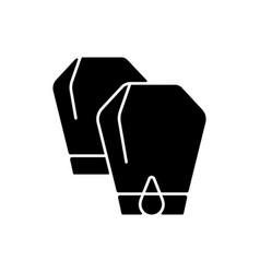 Lantern festival black glyph icon vector