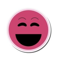 Laughing emoticon icon vector