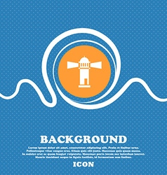 Lighthouse icon sign Blue and white abstract vector