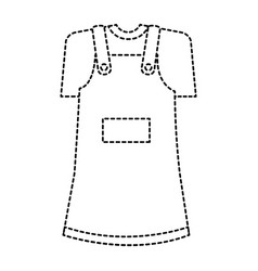 little girl clothes isolated icon vector image