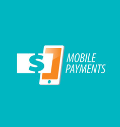 logo mobile payments vector image