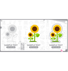 logo sunflower energy plants vector image