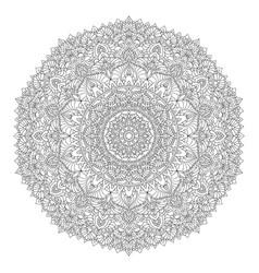 mandala decorative element for coloringislam vector image