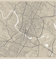 Map austin street map art poster vector