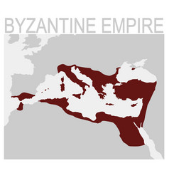 map of the byzantine empire vector image