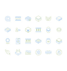 mattress icons anatomical orthopedic healthcare vector image