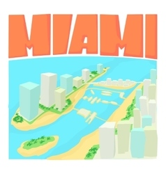 Miami city concept cartoon style vector