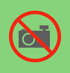 No photo camera sign vector image