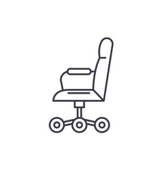 office chair from the side line icon concept vector image