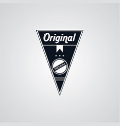 Original premium label retro theme badge emblem vector