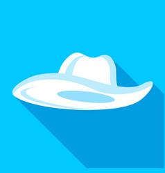 panama hat icon flat style vector image