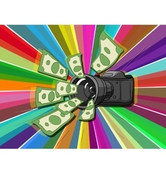 Photo camera and money vector