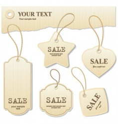 Retail tags vector