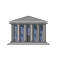 retro public building with columns vector image