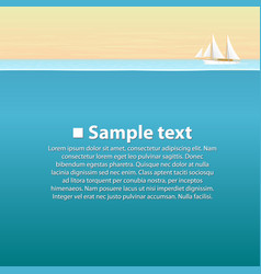 sailing boat in sea vector image