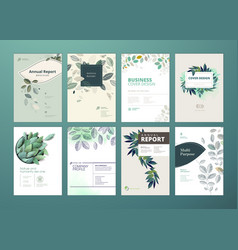 set of brochure and annual report vector image