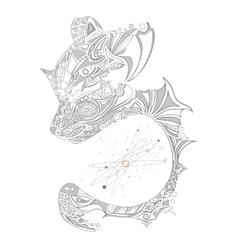 Sleeping bear pattern vector image