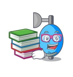 Student with book ambu bag mascot cartoon vector