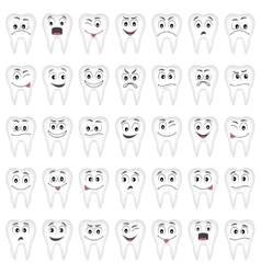 Teeth set for your design vector image