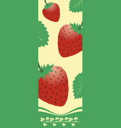 three red strawberries vector image