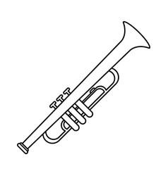 Trumpet musician instrument icon thin line vector
