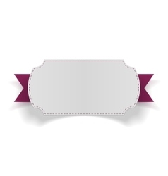 White blank Card on purple Ribbon vector