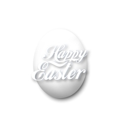 White egg isolated on white vector image