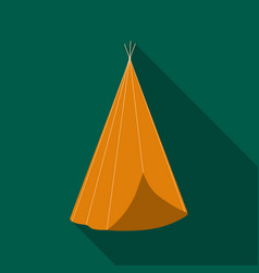 Wigwam icon flate singe western icon from the vector