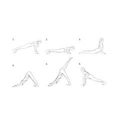 Yoga vinyasa for strength and energy accumulation vector
