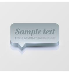 Silver speech bubble vector image vector image