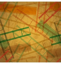Vintage background with film frame Seamless vector image