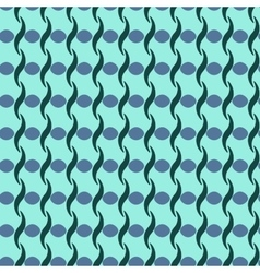 Wavy line and circle seamless pattern vector image
