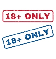 18 plus only rubber stamps vector
