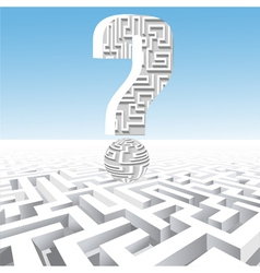 a question mark over the maze vector image vector image