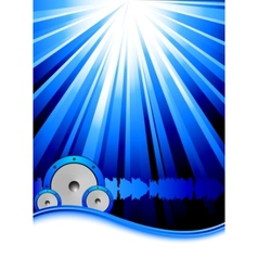blue party banner template vector image