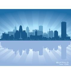 Buffalo New York skyline city silhouette vector image vector image