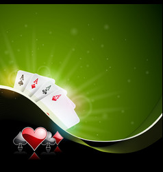 casino with playing cards vector image vector image
