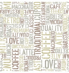 coffee seamless background white vector image