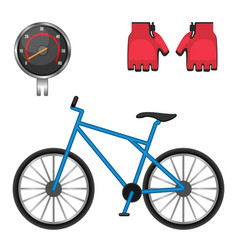 cycling speedometer protective leather gloves vector image vector image