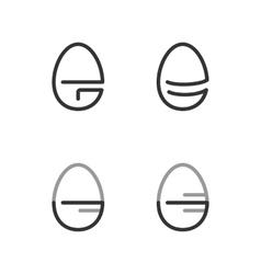 Egg Shape Line Logo Minimalism Style Logotype vector image vector image