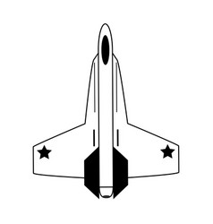 Fighter jet airplane icon image vector