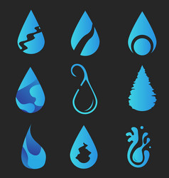 logo water collection design vector image vector image