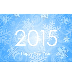 2015 Happy New Year background with snowflakes vector image vector image
