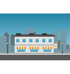 Dark Cityscape with restaurant vector image