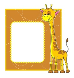 frame with giraffe vector image vector image