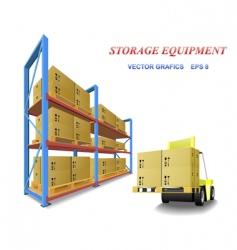 storage equipment vector image vector image