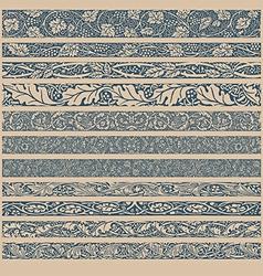 Vintage Pattern Brushes vector image vector image