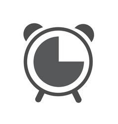 alarm clock line icon outline and filled vector image