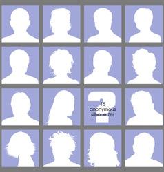 Anonymous avatars vector